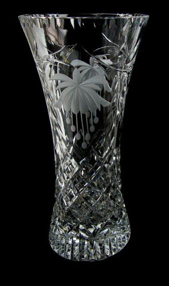 8 inch Waisted Vase Fuchsia
