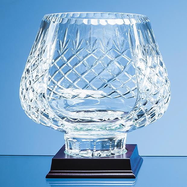 21cm Lead Crystal Panelled Tulip Bowl