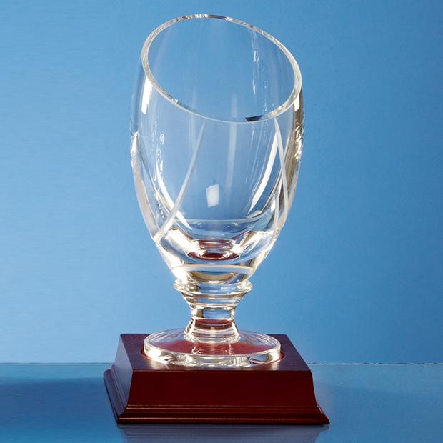 18cm Handmade Slope Top Presentation Vase