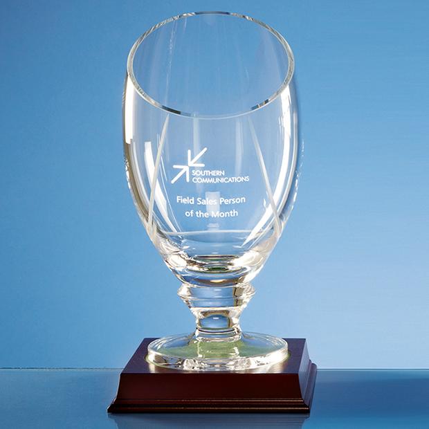 25cm Handmade Slope Top Presentation Vase