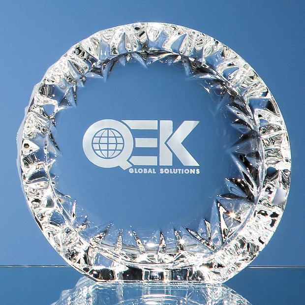 13cm Mario Cioni Lead Crystal Tech Roundel