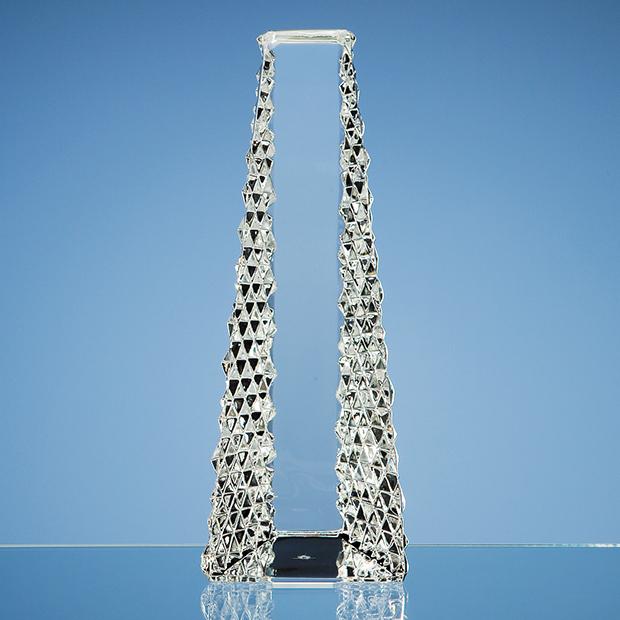 26cm Mario Cioni Lead Crystal Tower Award
