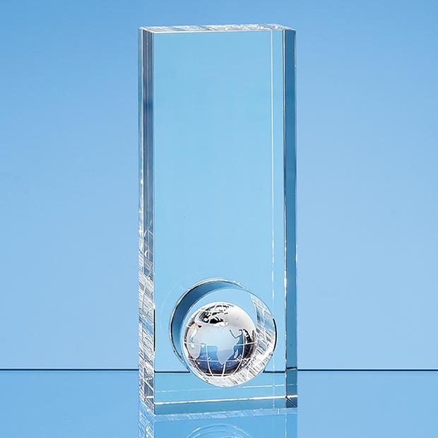 20cm Optical Crystal Globe in the Hole Award