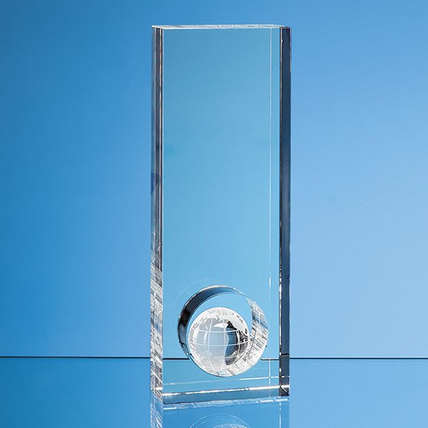 23cm Optical Crystal Globe in the Hole Award