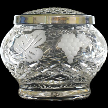 Grapevine Round Sided 6 Inch Rose Bowl