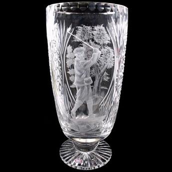 Larger JT Vase Piper Male Golfer